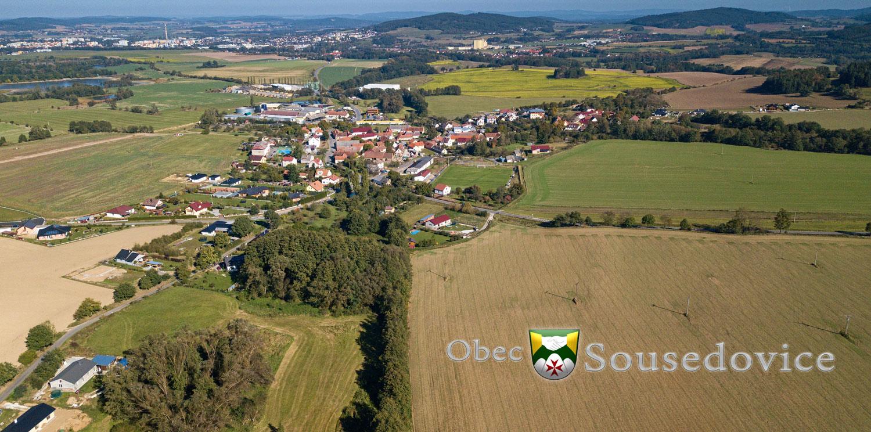 Letecký snímek Sousedovic