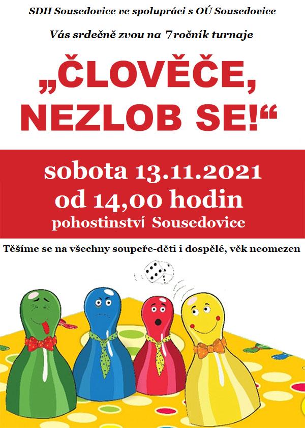 Turnaj-Člověče nezlob se 13.11.2021